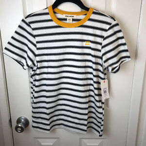 NWT Billabong Black & White Striped T-shirt. Med